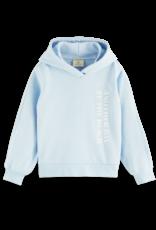 Scotch & Soda Scotch R'Belle hoodie met pofmouwen lichtblauw