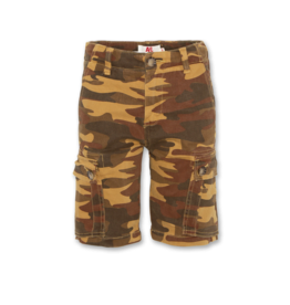 American Outfitters AO cargo shorts met camouflage print cognac