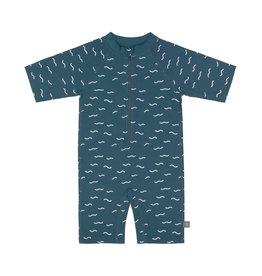 Lässig Lässig zwempak UPF50+ met korte mouwen Waves Blue