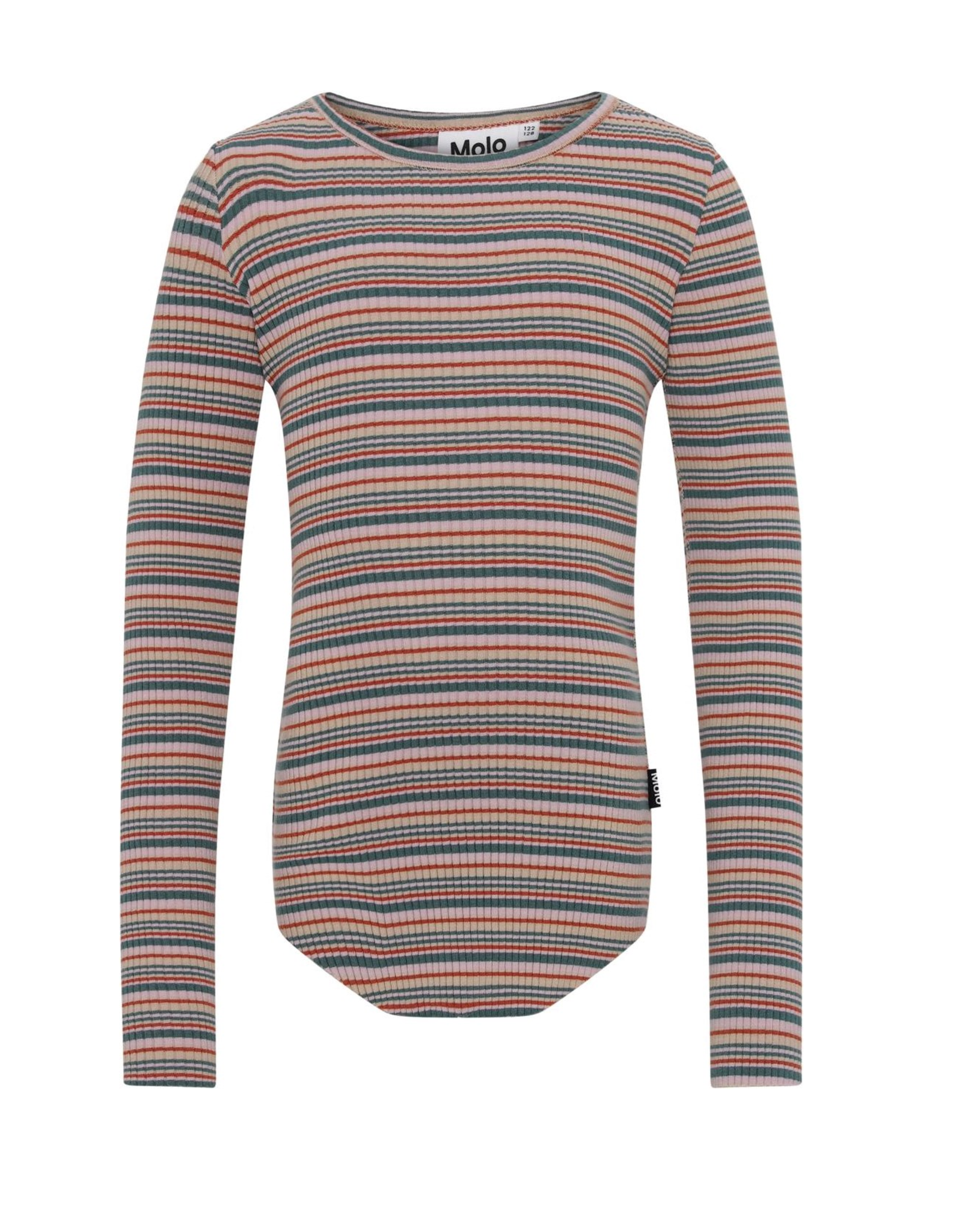 Molo Molo Rochelle geribd t-shirt Multistripe