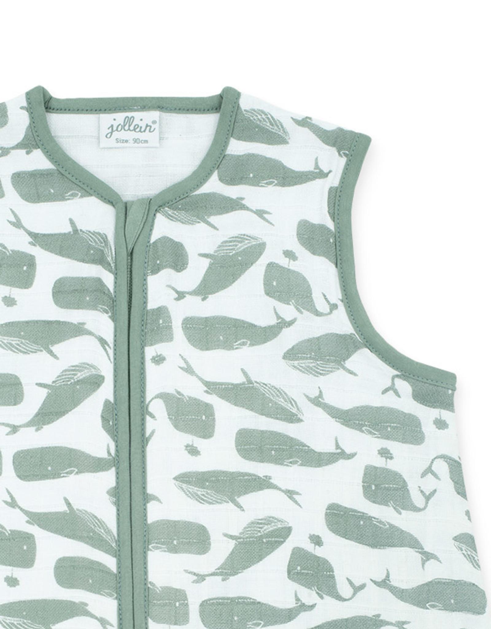 Jollein Jollein baby hyfrofiele zomerslaapzak Whales Ash Green