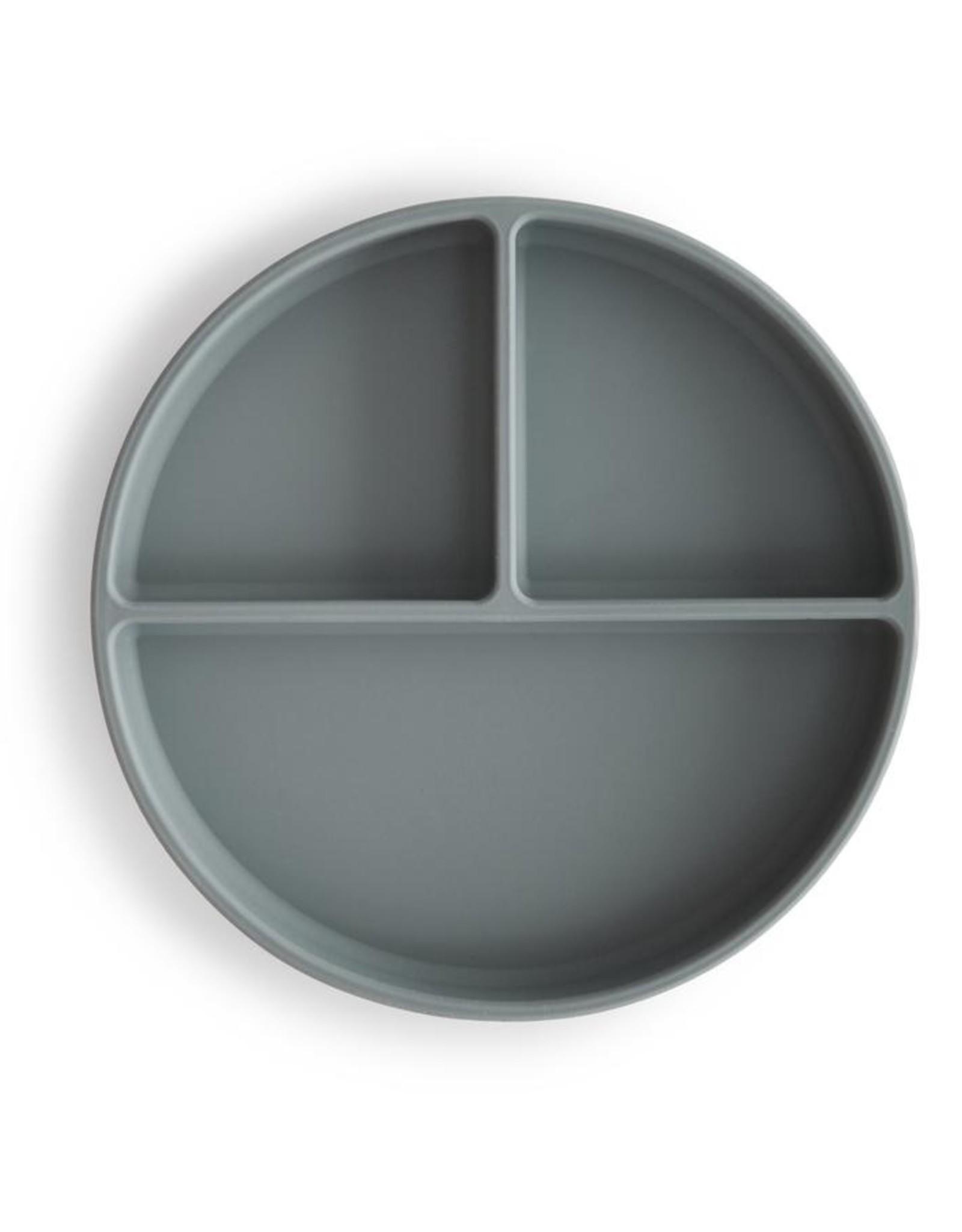 Mushie Mushie Siliconen 3-Vaks Bord Stone