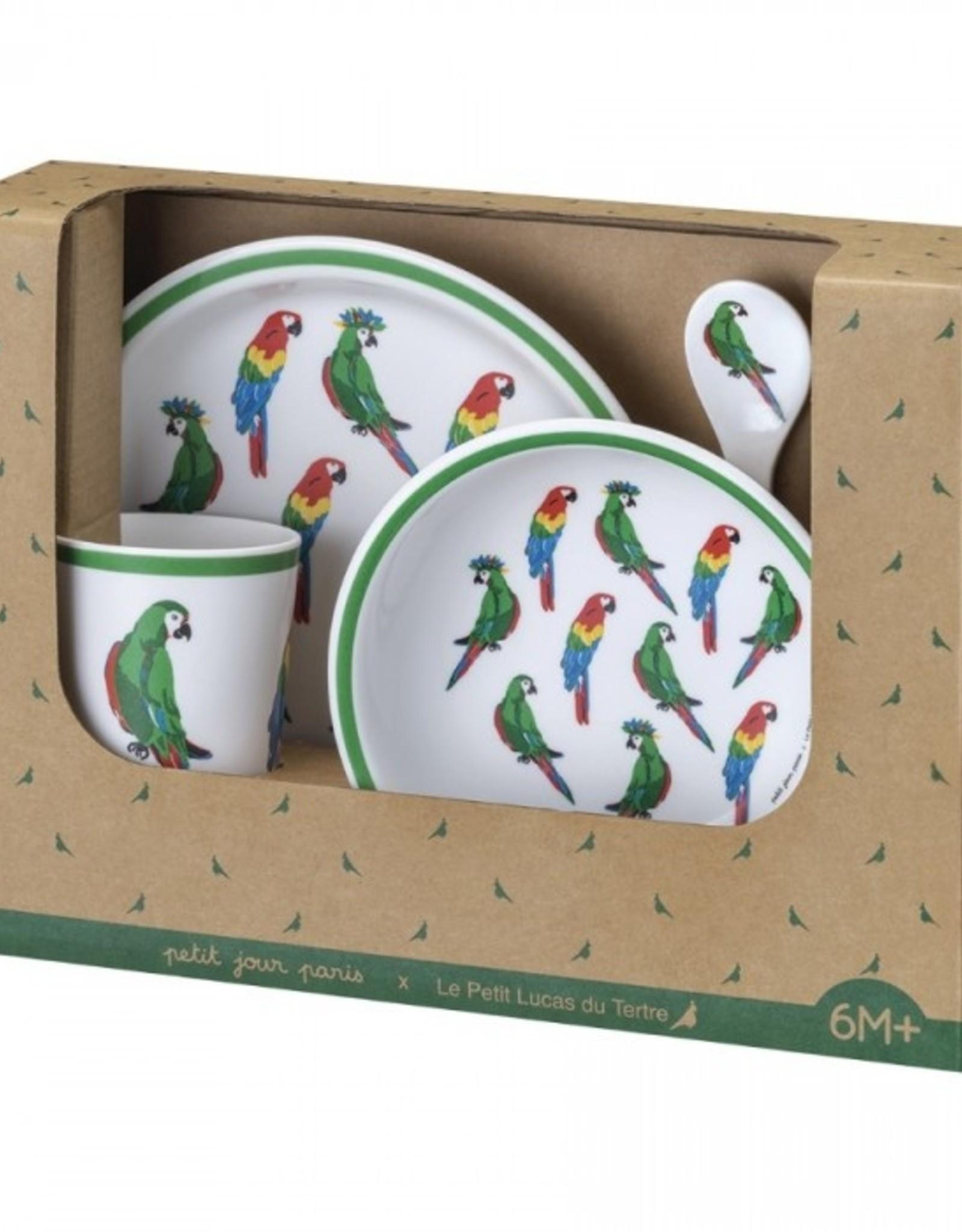 Petit Jour Paris Petit Jour Paris 5-delige cadeauset Les Perroquets (papegaaien)