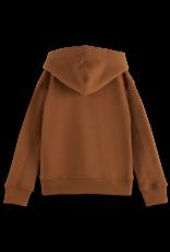 Scotch & Soda Scotch & Soda kaneelbruine oversized hoodie