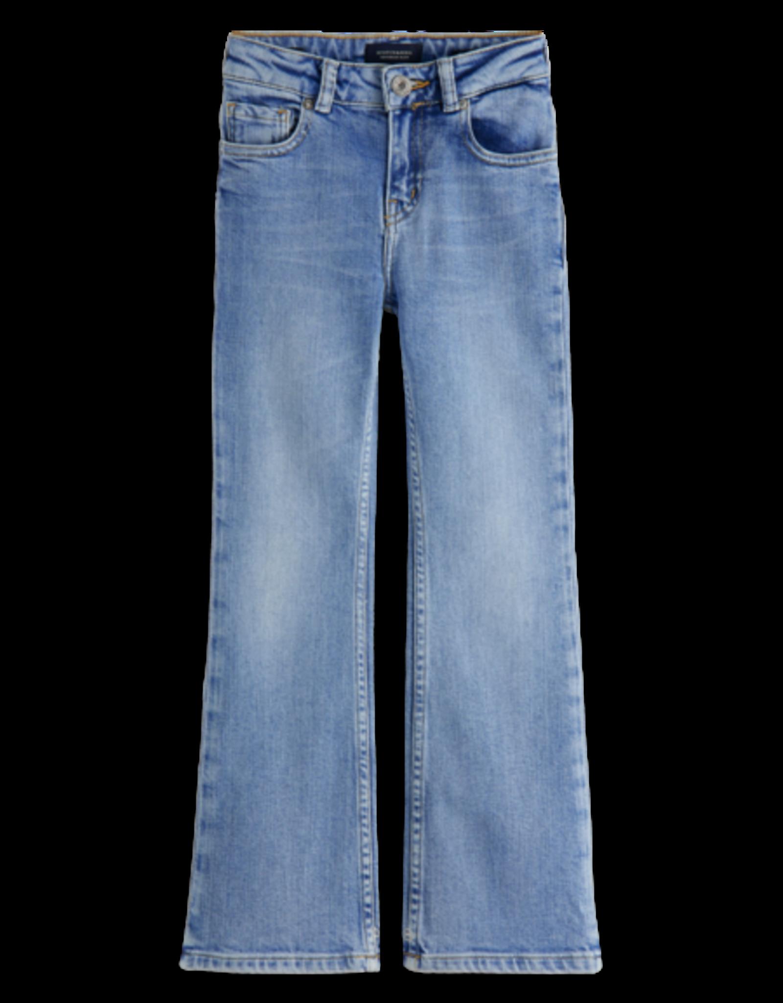 Scotch & Soda Scotch & Soda The Charm blauwe flared jeans Crystal Clear