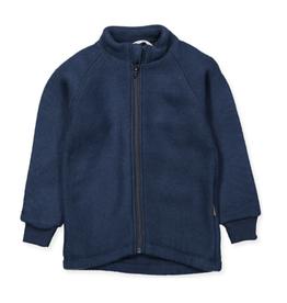Mikk-Line Mikk-Line wollen jasje met elastiek bij mouwen Blue Nights