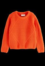 Scotch & Soda Scotch & Soda chunky chenille knit rood