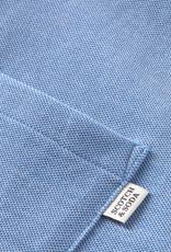 Scotch & Soda Scotch & Soda long-sleeved pique shirt blauw