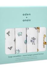 aden + anais Aden + Anais 4-pak swaddles Jungle Jam