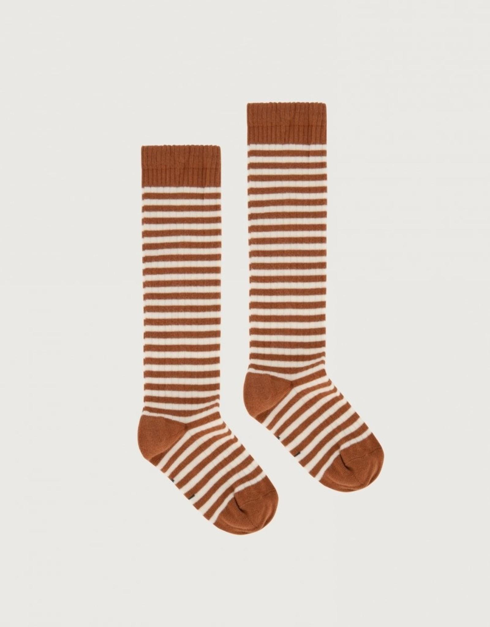 Gray Label Gray Label lange geribde sokken Autumn/Cream