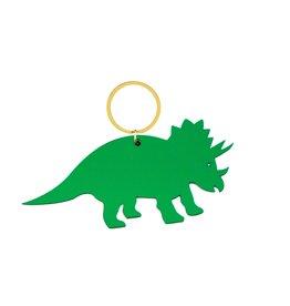 Global Affairs Global Affairs dinosaur keyring green