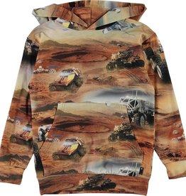 Molo Molo hoodie met mars print