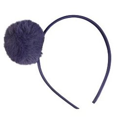 Global Affairs Global Affairs hairband pompom dark blue