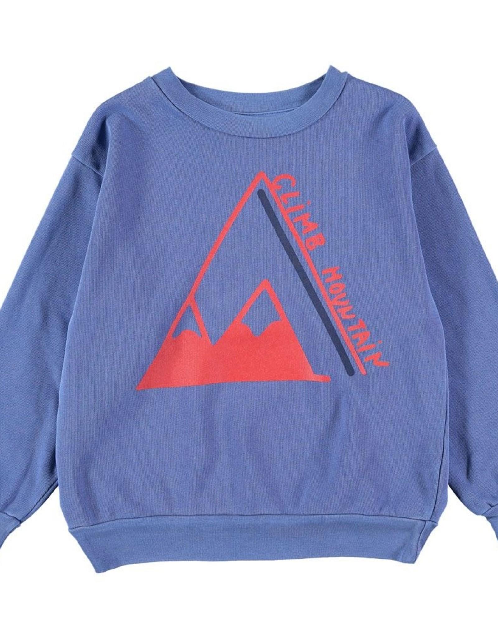 Bonmot Organic Bonmot sweater climb Sea Blue