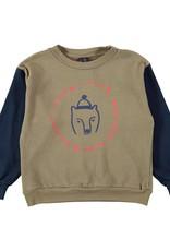 Bonmot Organic Bonmot sweater bear Taupe