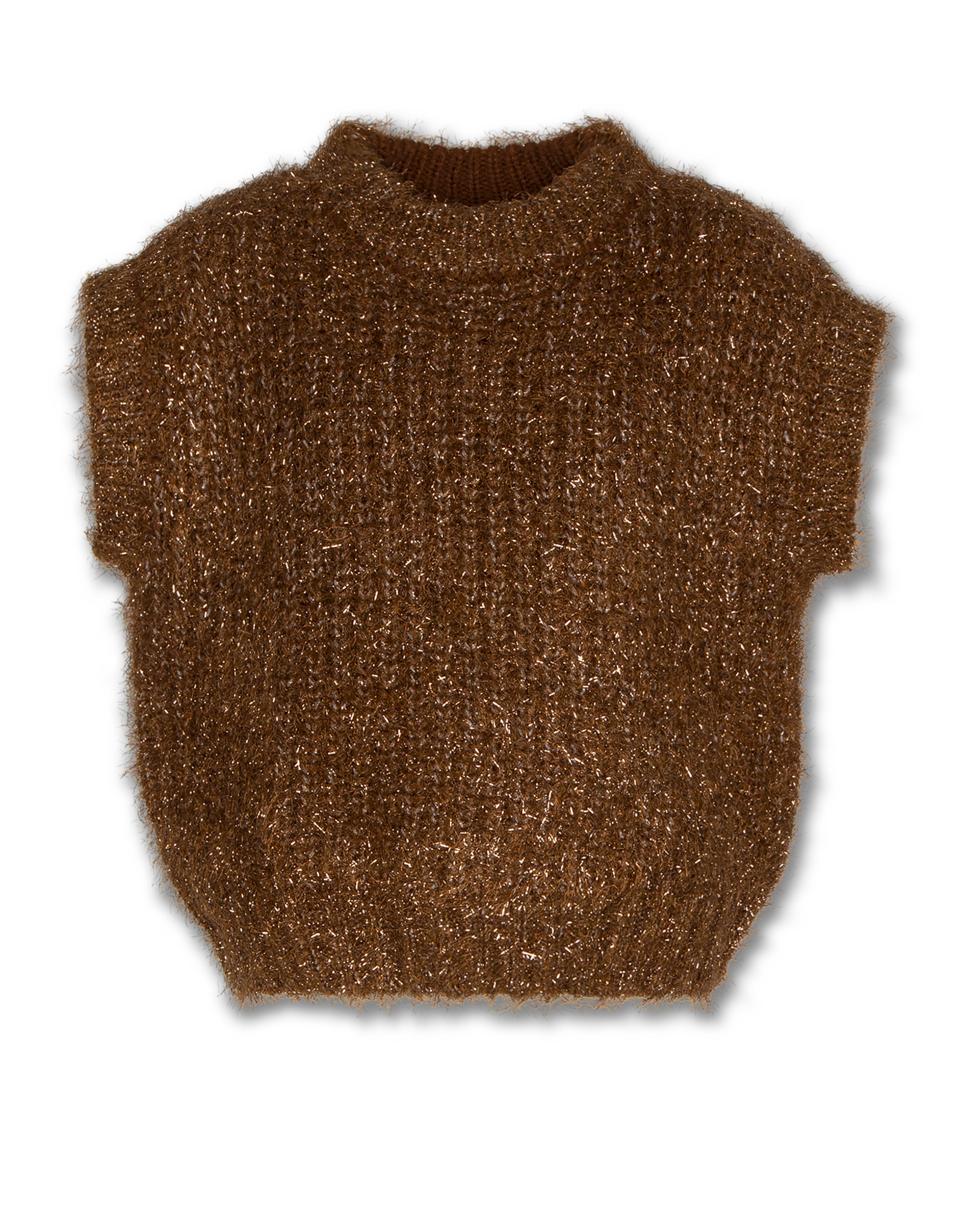 American Outfitters American Outfitters mouwloze c-neck sweater bruin