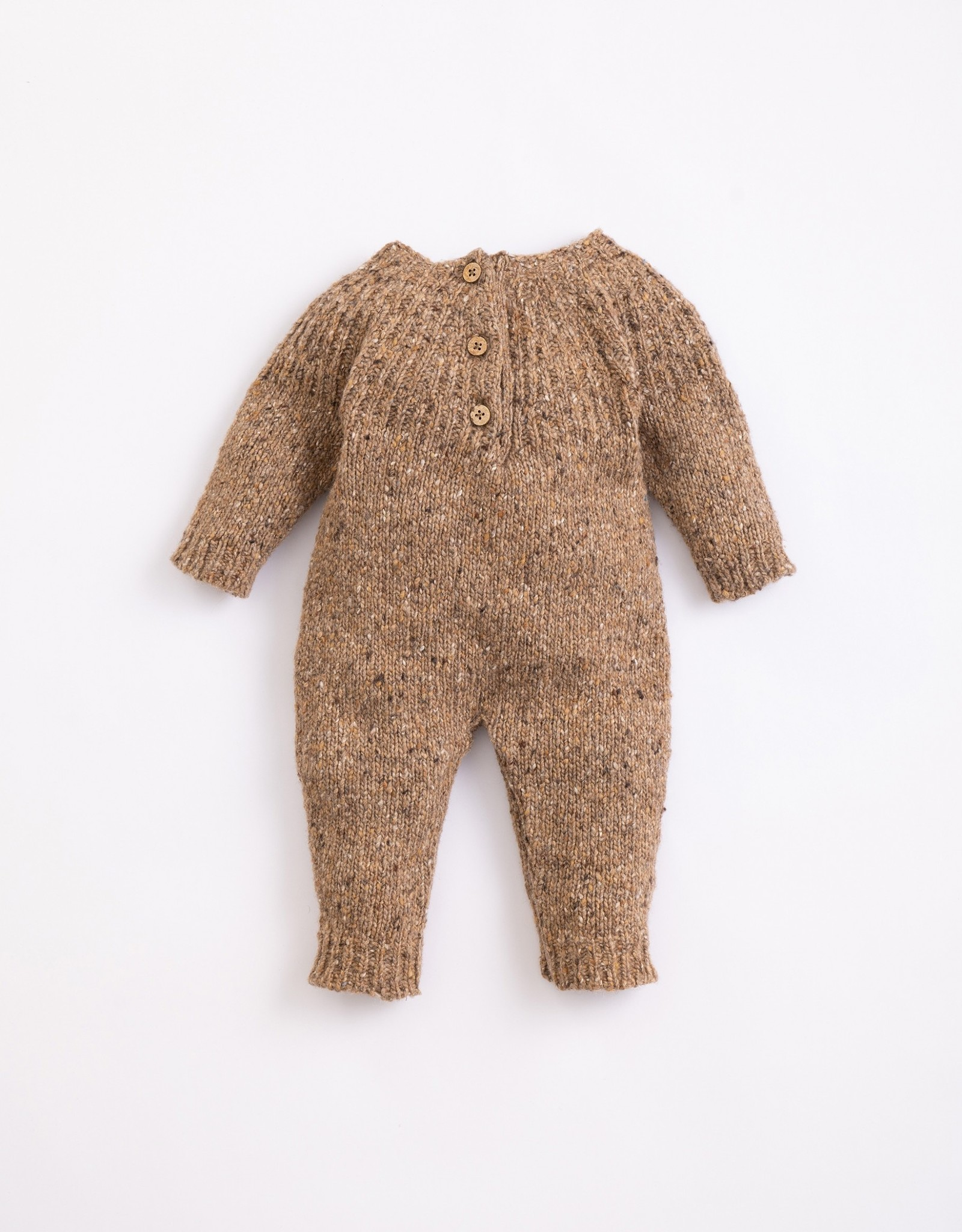 Play Up Play Up knitted jumpsuit paper (bruin)