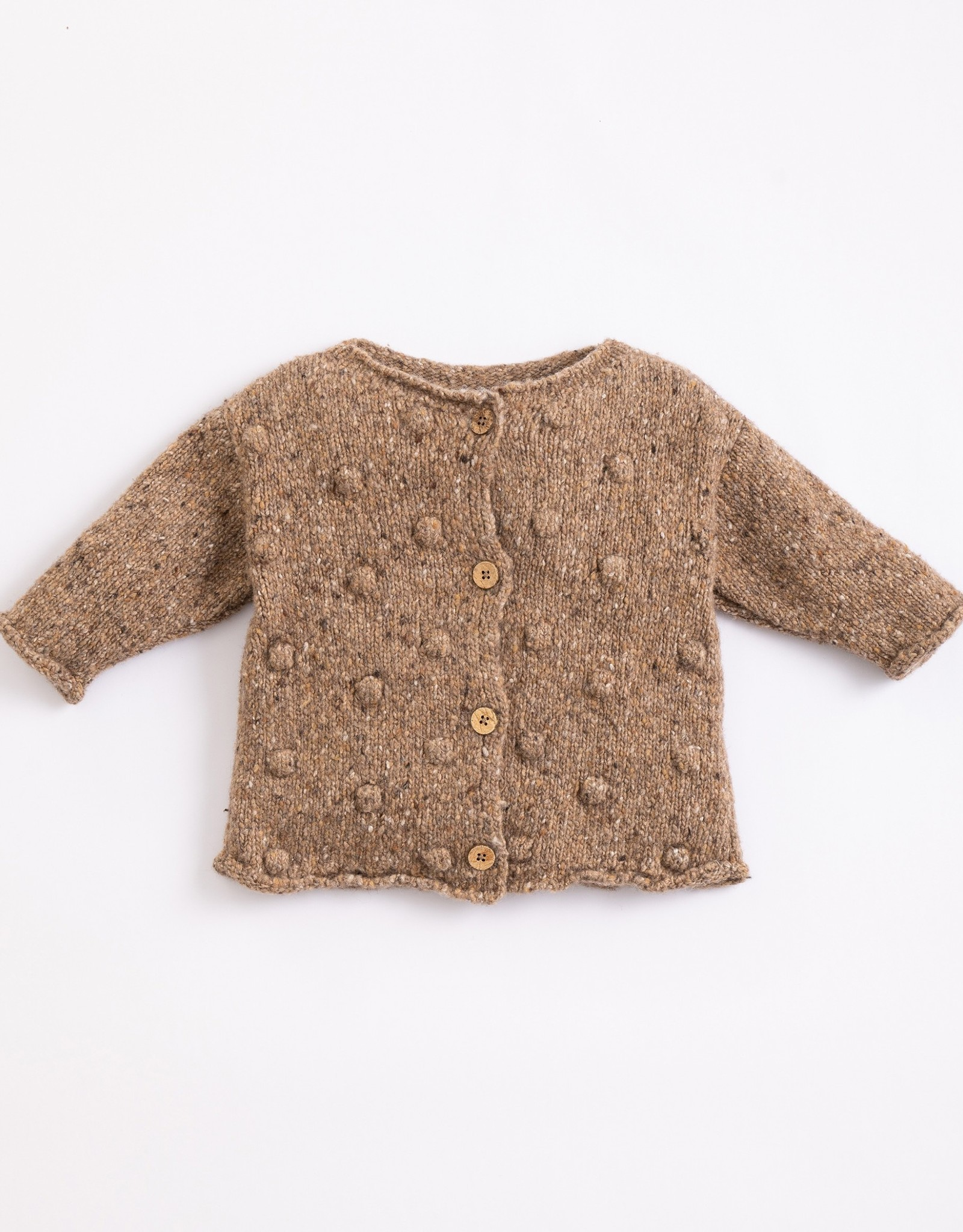 Play Up Play Up knitted jacket paper (bruin)