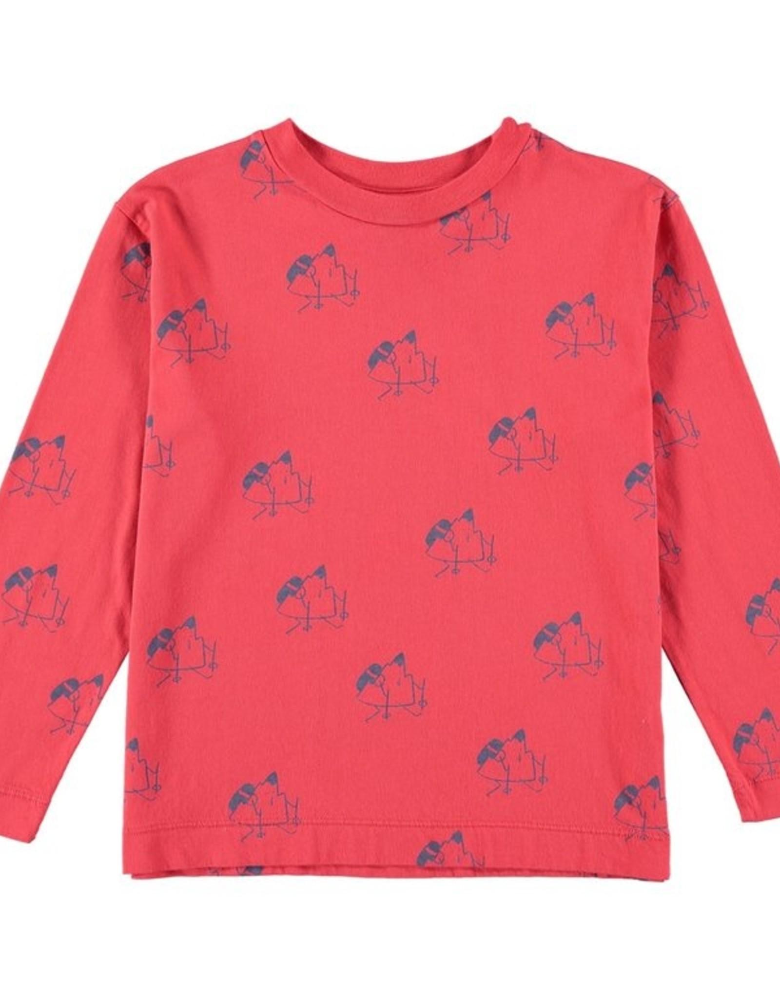 Bonmot Organic Bonmot t-shirt allover trekking Red