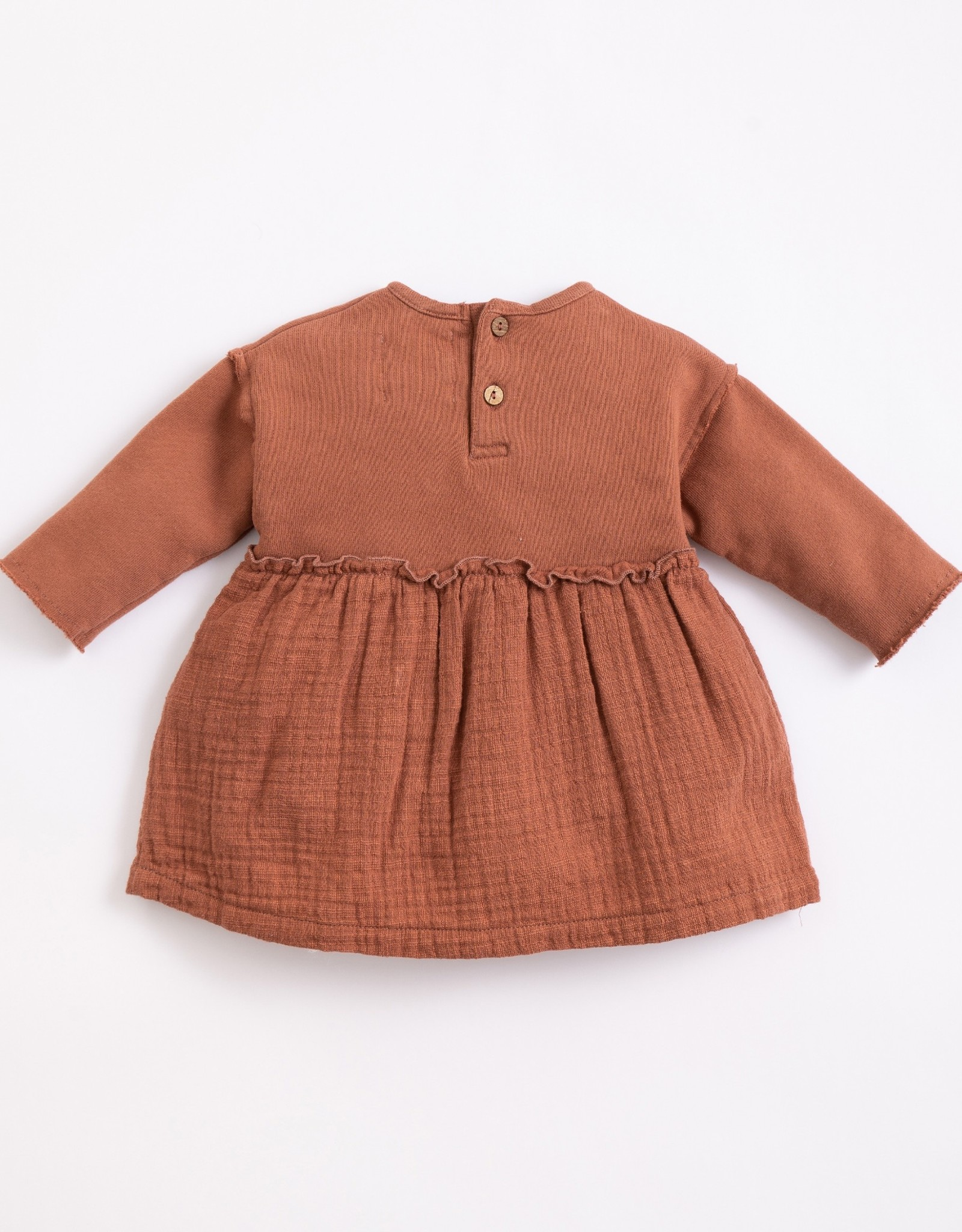 Play Up Play Up mixed texture dress sanguine (rood/bruin)