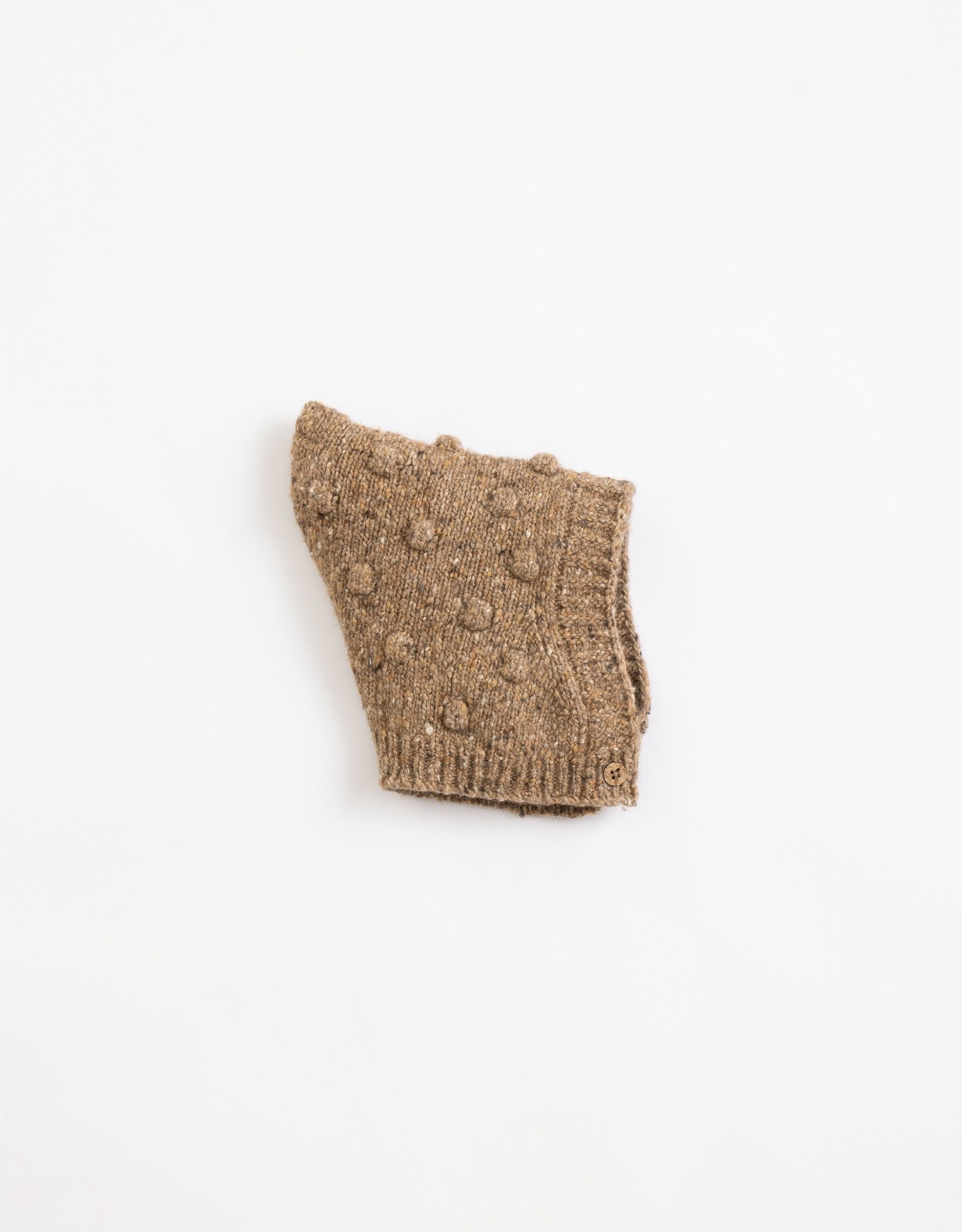 Play Up Play Up knitted beanie paper (bruin)