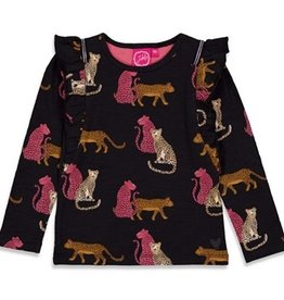 Jubel Jubel Longsleeve Shirt Forever Wild Zwart AOP