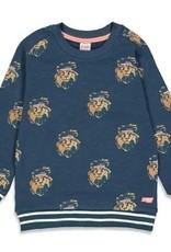 Sturdy Sturdy Sweater Press And Play Donkerblauw AOP