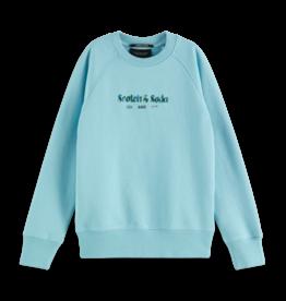 Scotch & Soda Scotch & Soda sweatshirt organic cotton lichtblauw
