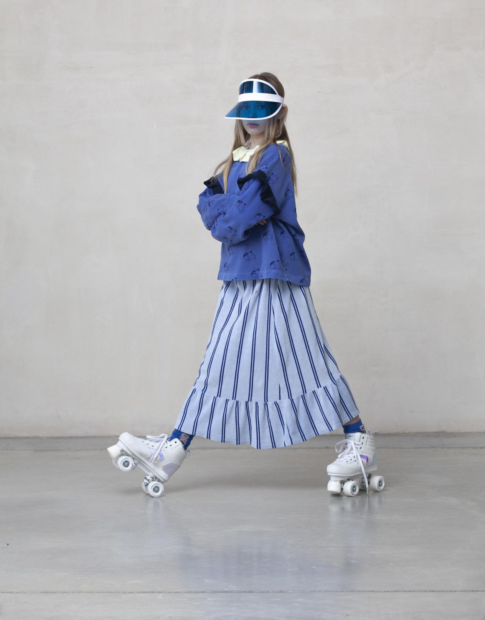 Bonmot Organic Bonmot velvet rokje light blue