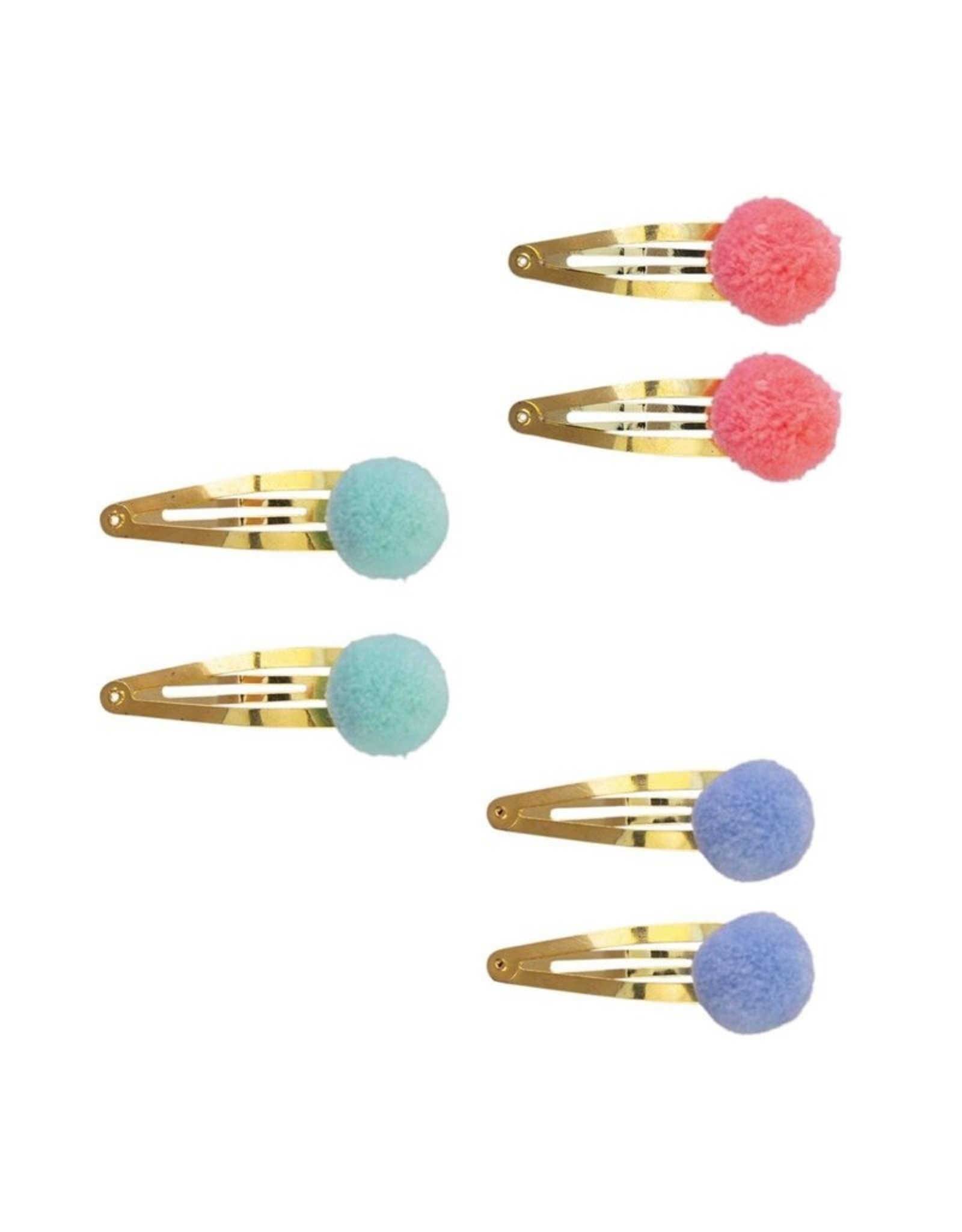Global Affairs Global Affairs hairclip gold with pompom blue
