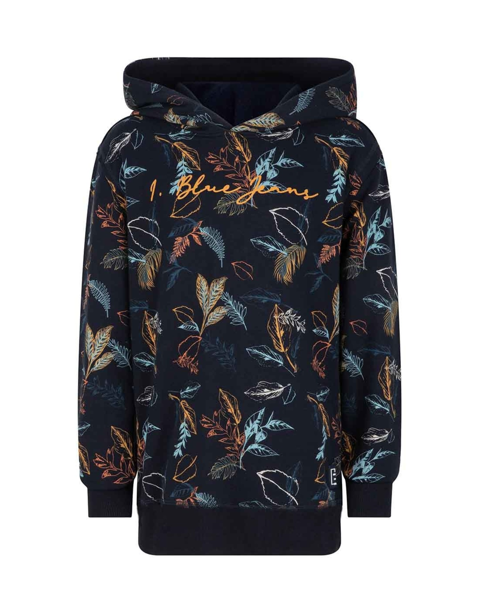 Indian Blue Jeans Indian Blue Jeans hoodie AOP leaves donkerblauw