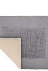 Koeka Koeka Boxkleed Amsterdam Wafel Steel Grey/ Sand 75x95