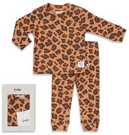Feetje Feetje PREMIUM pyjama leopard hazelnoot