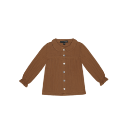 House of Jamie House of Jamie Collar Blouse Ginger Bread
