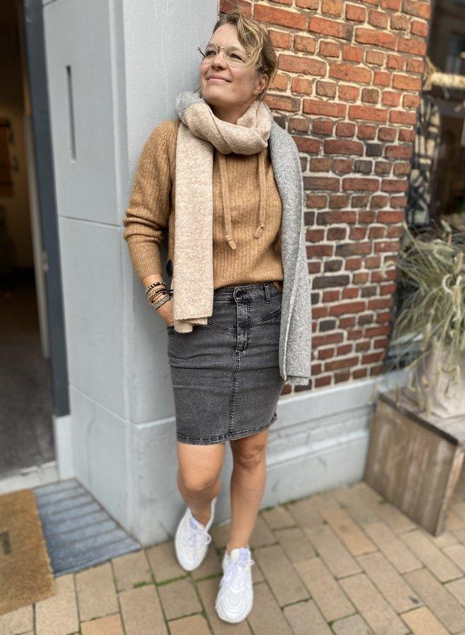 10days W204 denim skirt grey