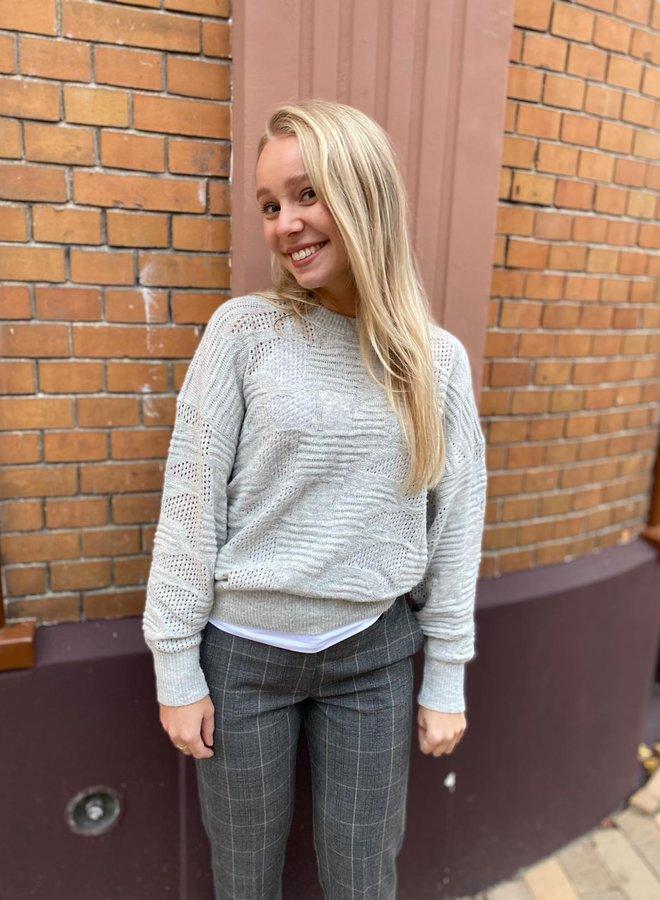 YAYA W20 knitted sweater medium grey