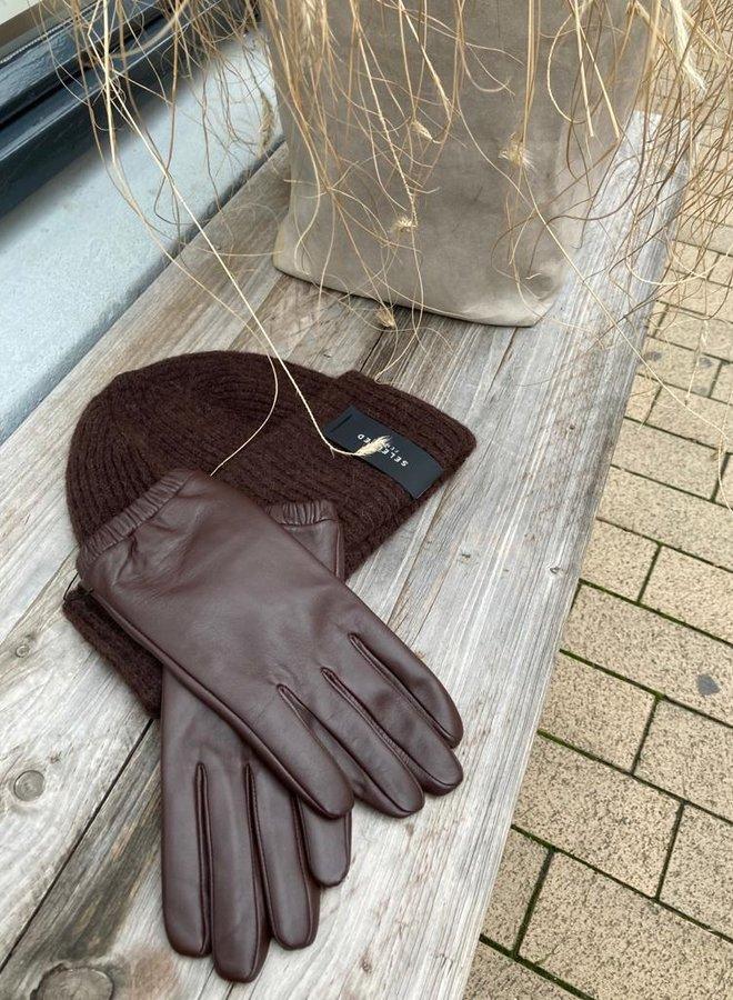 YAYA handschoen leather brown