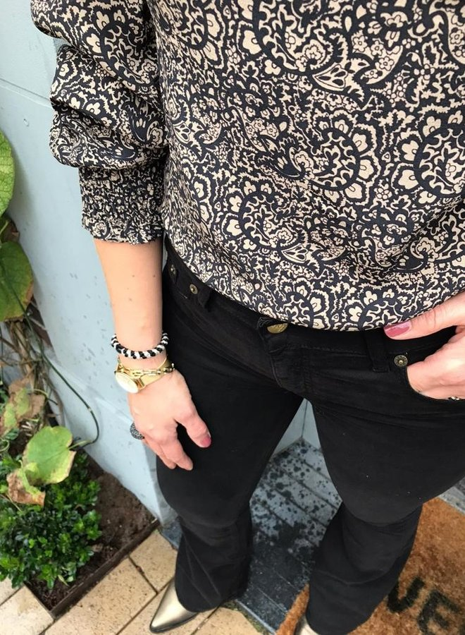 BY BAR W20 marcia paisley blouse black