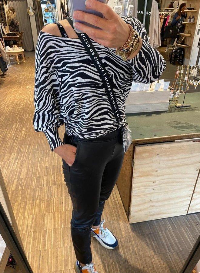 10DAYS W203 thin sweater zebra white