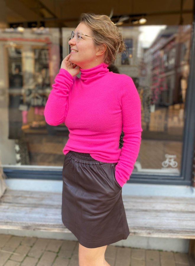 Second Female melvin leather skirt brown