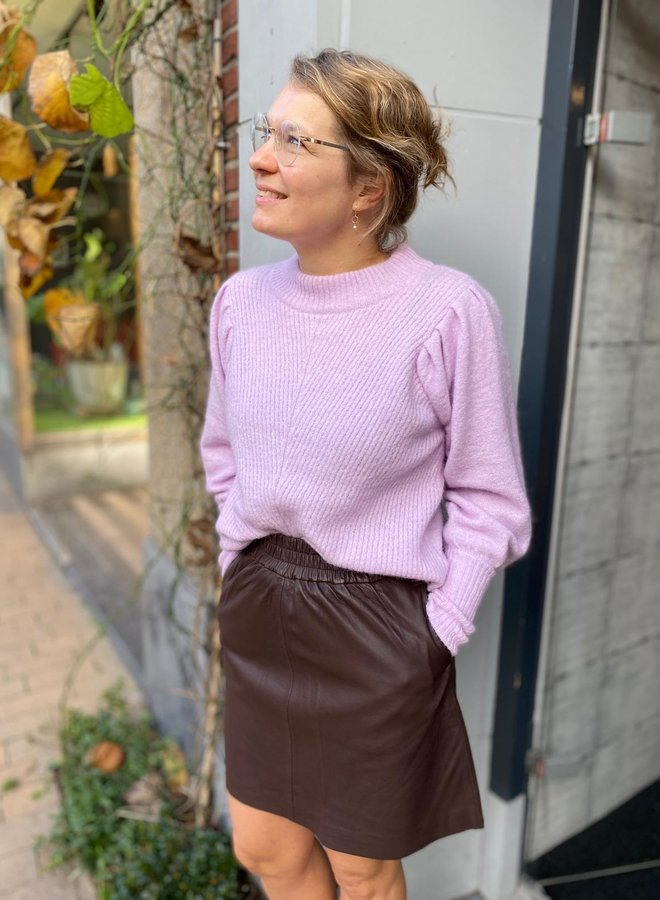 Second Female W20F melvin leather skirt brown
