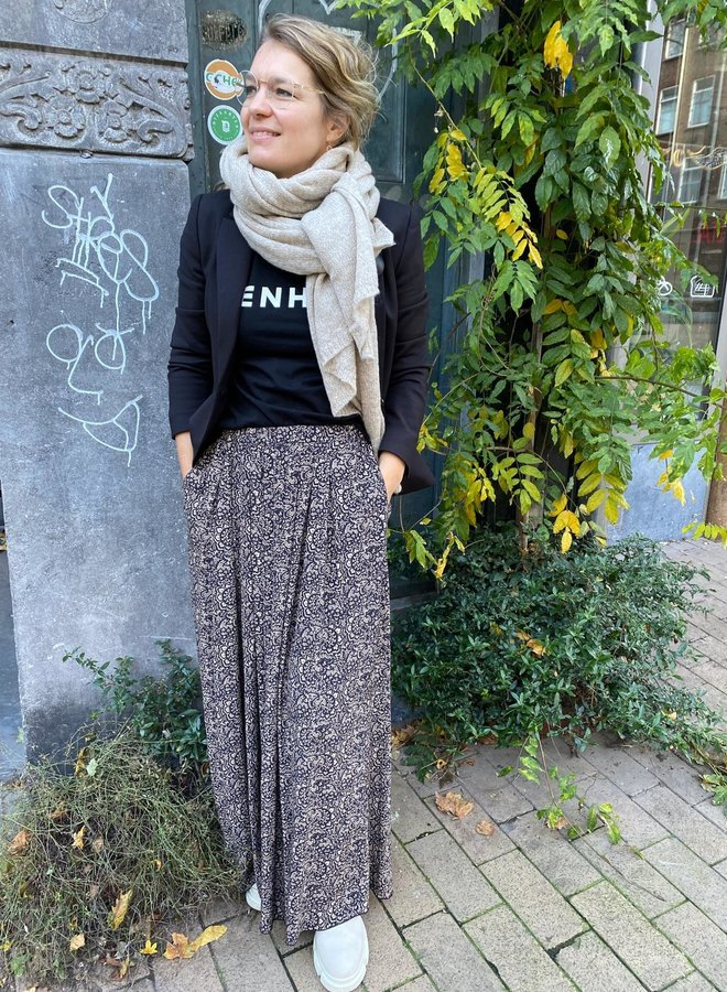 BY BAR W20 linde paisley skirt black