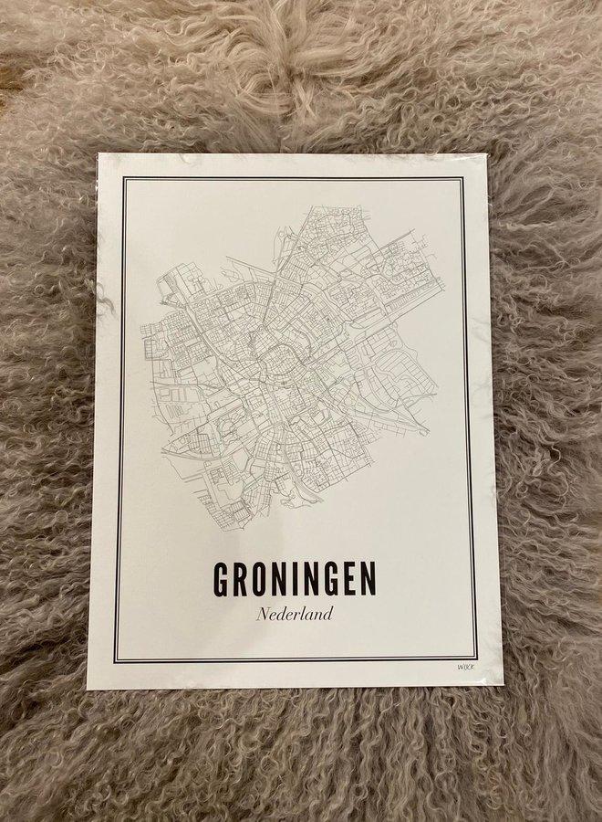 Wijck print Groningen city A3 30x40 (groot)