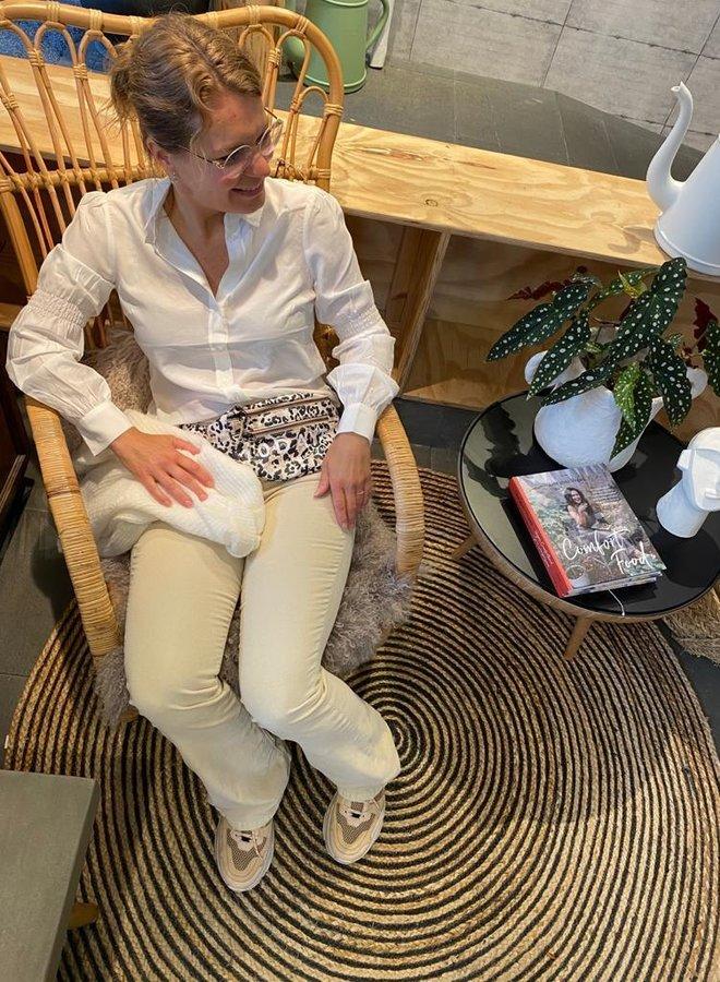 Moss W20 blakely melody blouse beige