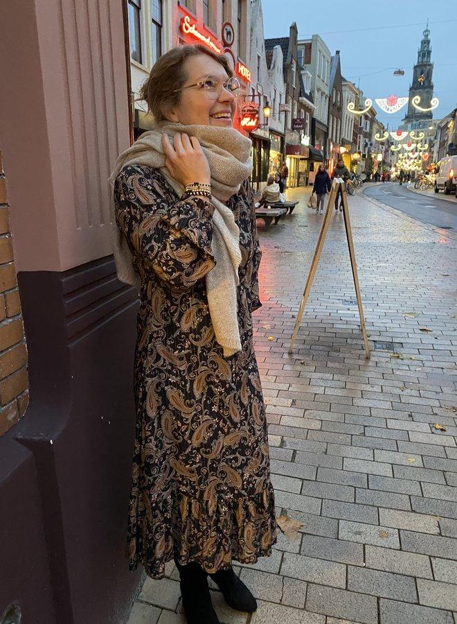 Les Favorites W20 ella paisley dress brown