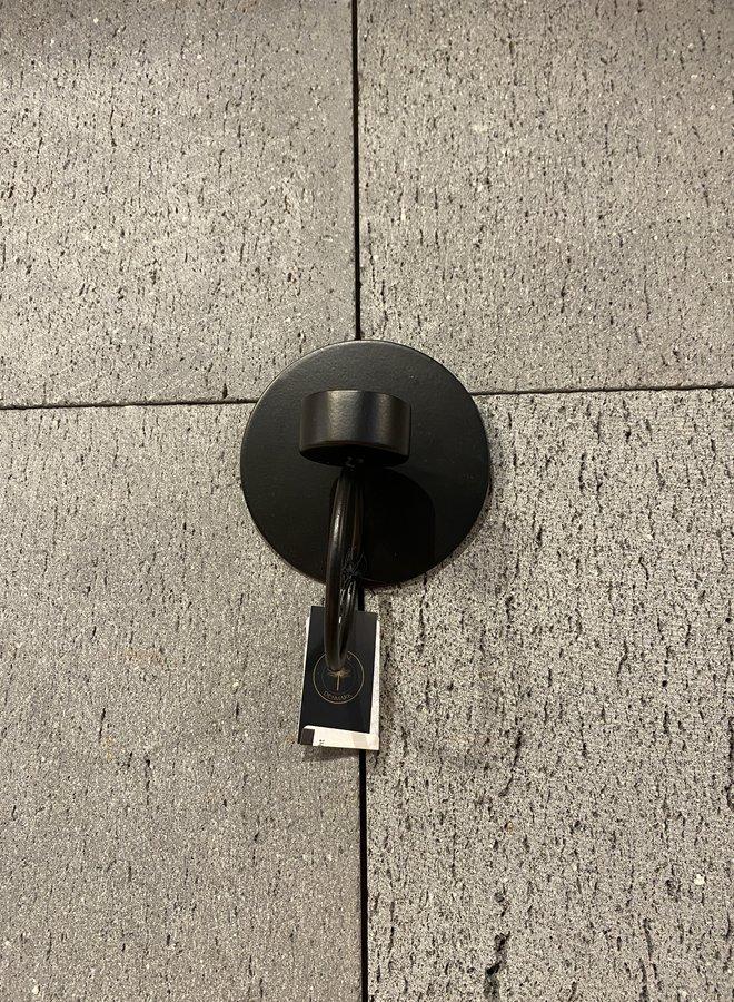 Nordal wall t-light holder black