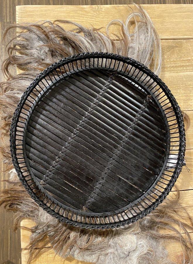 Nordal bamboo tray dienblad black