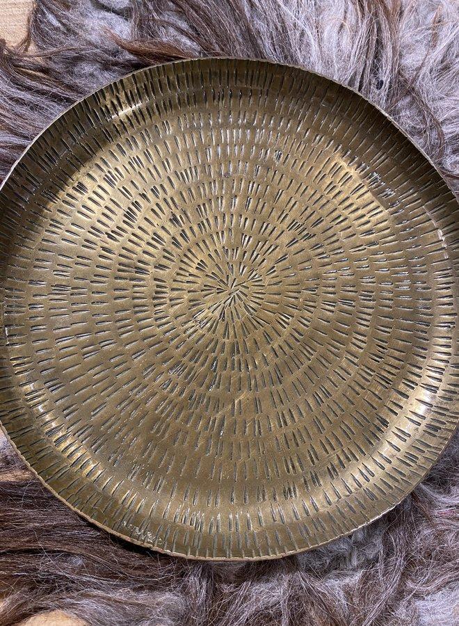 Bloomingville tray brass aluminium di 32 cm