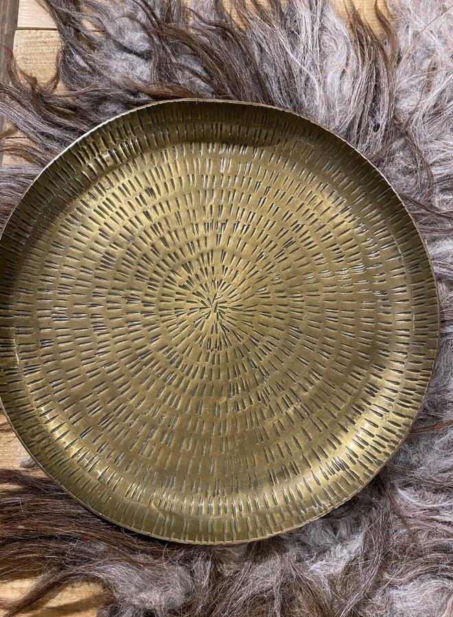 Bloomingville tray brass aluminium dia 32 cm