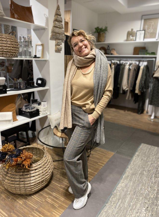 SF kia cashmere knit u neck camel